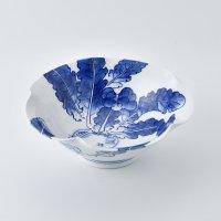平戸蕪絵百合形菓子鉢