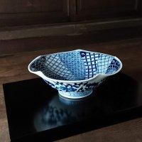 祥瑞文百合形菓子鉢