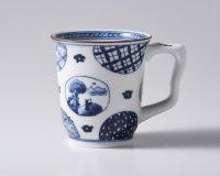 丸紋山水絵イージーマグカップ(大)
