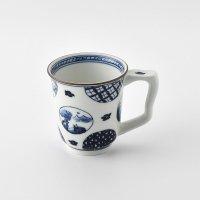 丸紋山水絵イージーマグカップ(小)