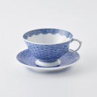 青海波文ティーカップ&ソーサー