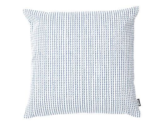 リヴィ クッションカバー50cm(ホワイト/ブルー)