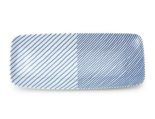 白山陶器 重ね縞 長焼皿 イメージ2