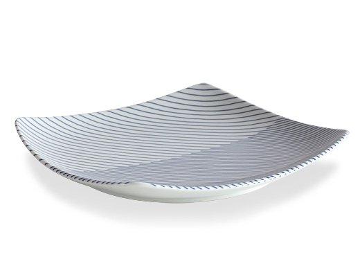 白山陶器 重ね縞 反角多様皿 イメージ3