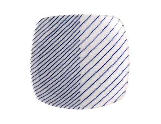 白山陶器 重ね縞 反角小皿 イメージ2