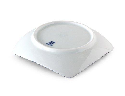 白山陶器 重ね縞 反角小皿 イメージ3