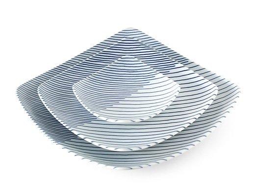 白山陶器 重ね縞 反角小皿 イメージ5