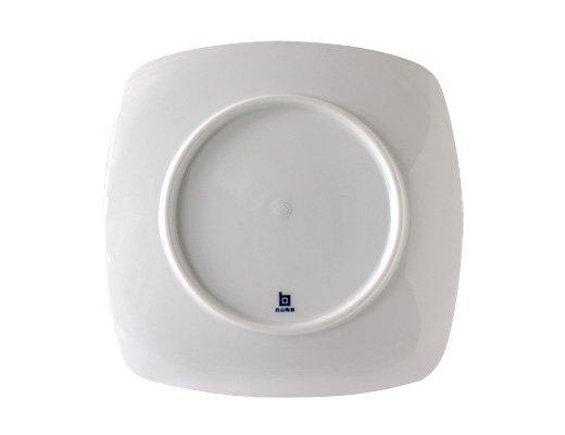 白山陶器 重ね縞 反角中皿 イメージ3