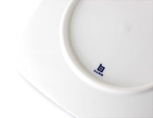 白山陶器 重ね縞 反角中皿 イメージ4