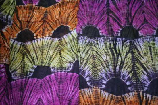 【モーリタニア】染色布:フルーティ・オアシス