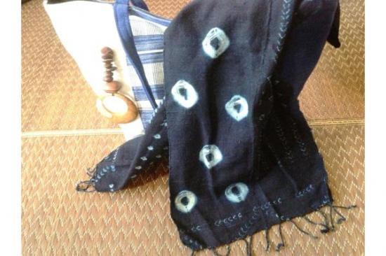 【西アフリカ】藍染スカーフ