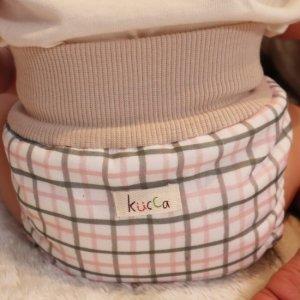 布おむつカバー パンツ型カバー kucca Dots With emoemo Mサイズ〈オリジナルテキスタイル〉 ダブルガーゼ リブウエスト  おむつなし育児
