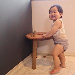 布おむつカバー パンツ型カバー コーラルユニークドロップ Mサイズ ダブルガーゼ リブウエスト おむつなし育児