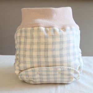 布おむつカバー パンツ型カバー 夏のヒカリ Mサイズ ダブルガーゼ リブウエスト おむつなし育児