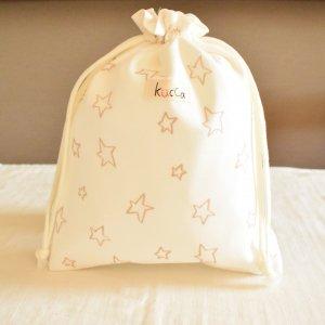 防水きんちゃくポーチ(小)Berry's flower 防水布 収納袋 旅行用