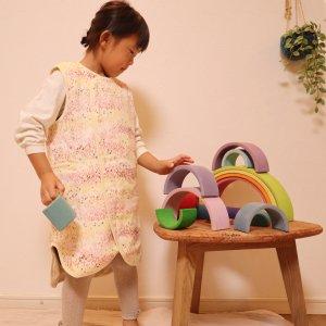 4重ガーゼ×オーガニックパイルスリーパー PINKポピーの想い出 防寒着 あったか寝具