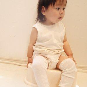 シルクレッグウォーマー(子ども用) おむつなし育児 ふんどしスタイル 冷えとり 防寒対策