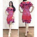 ベリーダンス衣装 ミラーヤドレス ピンク&シルバーml001 エジプト製即納品