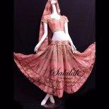 ボリウッドダンス衣装 サーモンピンク B0119