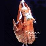ボリウッドダンス衣装 オレンジ B0120
