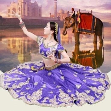 ボリウッドダンス衣装 インド製【全4色】 B0153