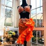 ベリーダンス衣装 フリルミニスカートタイプ オレンジ CP0281