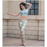 レッスンウエア スパンコール装飾トップス&アンバランススカート 【全2色】 lw1392