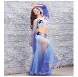 オリエンタル衣装 グラデーションスパンコール装飾 ブルーマーメイド oc1401
