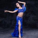 キッズベリーダンス衣装 レッスンウエア レースフリル【全3色】 kds1435