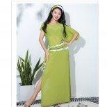 baladi shaabi saidi ドレス シースルー素材 イエローグリーン&ホワイト sd1452