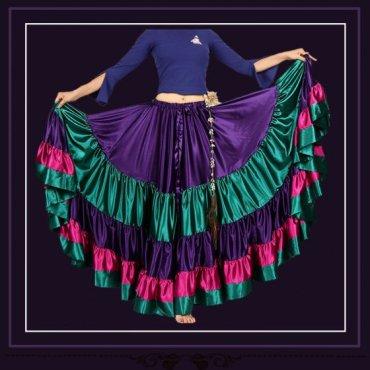 25ヤードサテンジプシースカート Purple/green/winered gs1460