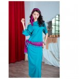 baladi shaabi saidi ドレス、ヒップスカーフ、ヘアスカーフ、ショートパンツ4点セット sd1510