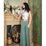 レッスンウエア スパンコール装飾ノースリーブトップス&ワイドパンツ lw1523