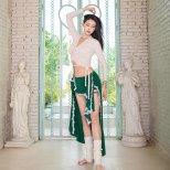 レッスンウエア  シャーリングデザイントップス&レース装飾フレアスカート 【2色展開】lw1559