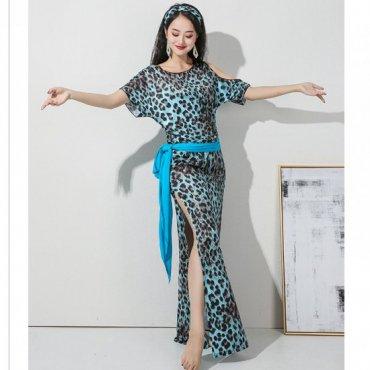baladi shaabi saidi ドレス プリント柄デザイン ドレス 、ヒップスカーフ、ヘアバンド、ショートパンツ4点セット 【全3色】sd1595