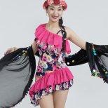 ベリーダンス衣装 プリント柄ミラーヤドレス 【5色】lw1602