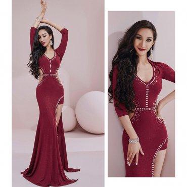 レッスンウエア ラインストーン 装飾ワンピースドレス 全2色 lw1630