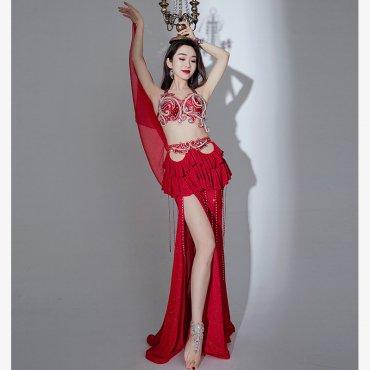 オリエンタル衣装 ブラ&フリルデザインスカート 全2色 lw1648