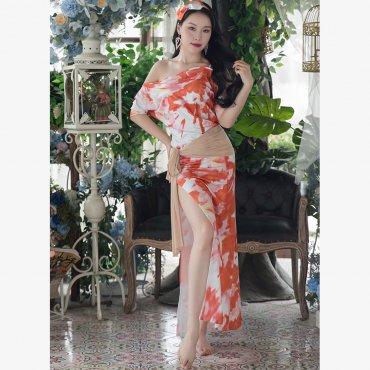 baladi shaabi saidi ドレス ヒップスカーフ ヘアスカーフ インナーショートパンツ 4点セット 全3色 lw1710