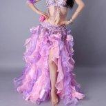ベリーダンス衣装 縦フリルスカート【11色】sk1255