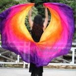 シルク100%ダブルベールYellow/Orange/Pink/Purple