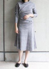 Glen Check Asymmetric Dress  (OSHIMA REI/オオシマレイ)