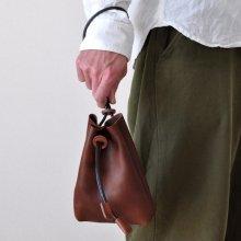 シュリンクレザー巾着袋 PC02S [栃木レザー使用]