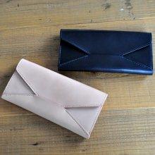 封筒型長財布 LWEN02 [栃木レザー使用ロングウォレット] N BK