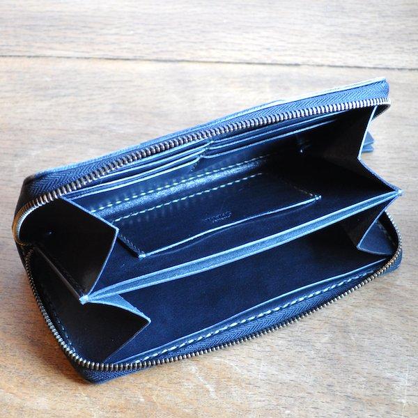 7d65475a7eb8 [栃木レザー使用] レザー財布 (ロングウォレット) ラウンドファスナー | 革工房OHANA ハンドメイドレザーワークス通販