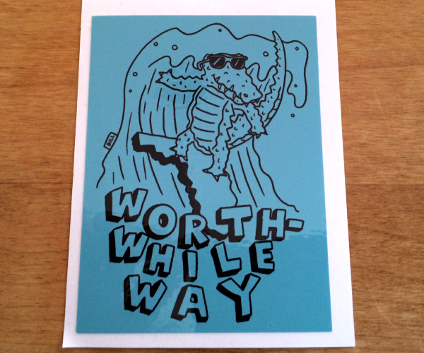 WORTHWHILE WAY - ALLIGATOR (STICKERS)