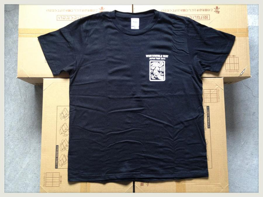 WORTHWHILE WAY - JAPAN TOUR 2014 (T-SHIRTS/BLACK)