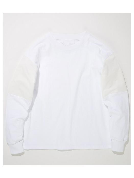 SUPERTHANKS(スパーサンクス) / 切替し袖 ロングスリーブカットソー / White