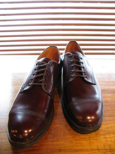 SANDERS(サンダース)トゥーキャップダービー/Toe-capDerby/カラー Burgundy Leather