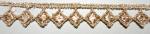ラメケミカルレース    ゴールド Gold/シルバー Silver   13.7m  No.875010